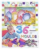 創&遊 ねんどぬき型 36 MOULDS ND-7810-01