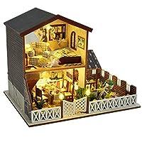 【 暮らし を シミュレーション できる 】 本格 的 LED 搭載 ミニチュア ドール ハウス 手作り ハンド メイド 組立 キット かわいい おもちゃ ホビー 超 リアル 記念 日 クリスマス プレゼント 小物 インテリア 大人 の 工作 SD-TB4