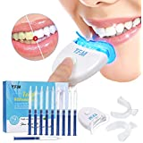Teeth Whitening Kit, Y.F.M Teeth Whiten Gel Kit White Dental Care Bleaching System Set, 10x Whitening Gel 2x Dental Trays Kit
