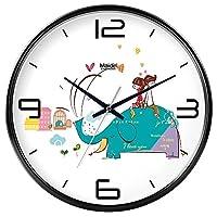 18-AnyzhanTrade ウォールクロックサイレントムーブメントウォールクロックホームオフィスインテリアリビングルームベッドルームとキッチンクロックウォールサイレントテーブルクォーツ時計 (Color : Black -410, サイズ : 8 in.)