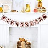 Tatuo 感謝祭 バナー 感謝祭 黄麻布 バナー 感謝祭 看板 オレンジの葉 黄麻布 パーティー用品 デコレーション