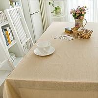 褪色防止テーブルカバー ソリッドカラー長方形のテーブルクロス - シンプルなコットン/コットン長方形のテーブルクロスコットン/リネンテーブルクロス(長方形-130 * 400cm) 多目的テーブルクロス (Color : D, Size : Rectangular - 90*130cm)