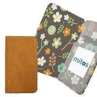 mitas Xperia M5 E5653 ケース 手帳型 内側プリント 花 花柄 vol2 グレー 外側ブラウン (268) RB-903-GY-BR/E5653