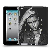 オフィシャル Justin Bieber Love Yourself Purpose (ブラック&ホワイト) ハードバックケース iPad 2 (2011)