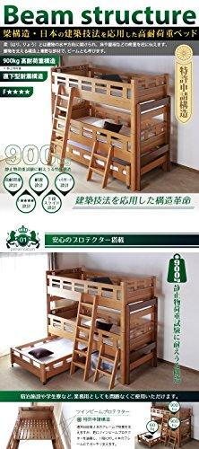 3段ベッド beamstructure 揺れに強く分離しない耐震構造