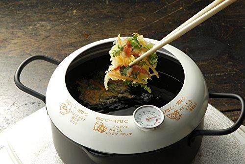 天ぷら鍋 温度計付き 日本製 あげた亭 20cm SH9257 5枚目のサムネイル