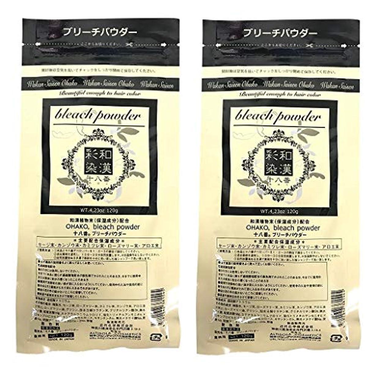 【2個セット】グランデックス 和漢彩染 十八番 120g ブリーチパウダー