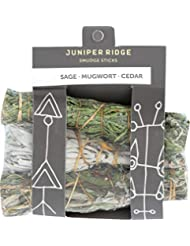 Juniper Ridge Smudge Sticks – Mini 3 Pack – Sage Mugwort Cedar – Varietyパック