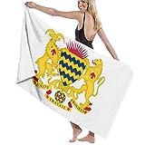 ビーチバスタオル バスタオル チャド国旗の紋章 ビーチバスタオル 海水浴 旅行用タオル 多用途 おしゃれ One Size White
