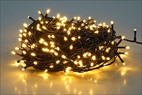 25m 360球 ストレット イルミネーションLEDライト 防水 ワイヤライト 屋内屋外使用可能 クリスマス パーティー ハロウィン