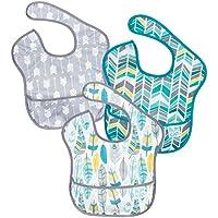 バンキンス 油が落ちるスタイ3点セット【日本正規品】スーパービブ 洗濯機で洗えてすぐ乾く お食事用防水ビブ 6~24ヶ月 Neutral Assorted S3-N16