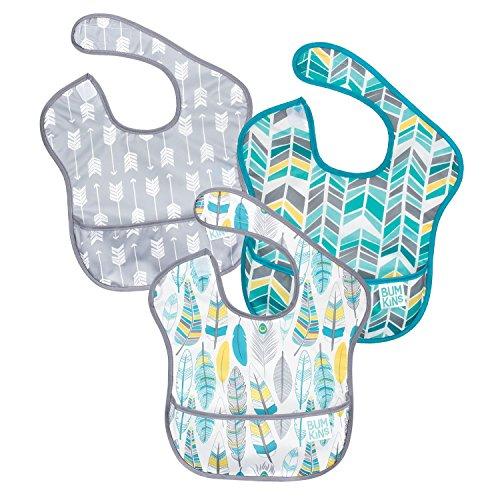 バンキンス 油が落ちるスタイ3点セット【日本正規品】スーパービブ 柔らかくて軽量 洗濯機で洗えてすぐ乾く...