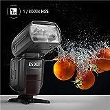ESDDIニコン用フラッシュストロボ i-TTL 1/8000 HSSワイヤレスフラッシュスピードライト GN58 2.4Gワイヤレスラジオマスタースレーブ ワイヤレスフラッシュトリガ付きの専門的なカメラフラッシュセット 画像