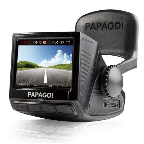 「国内正規販売品」「安心日本語対応」PAPAGO(パパゴ)ドライブレコーダー 前方衝突警報 車線逸脱警報 ブラック GoSafe P2 pro P2PRO-BK-8G