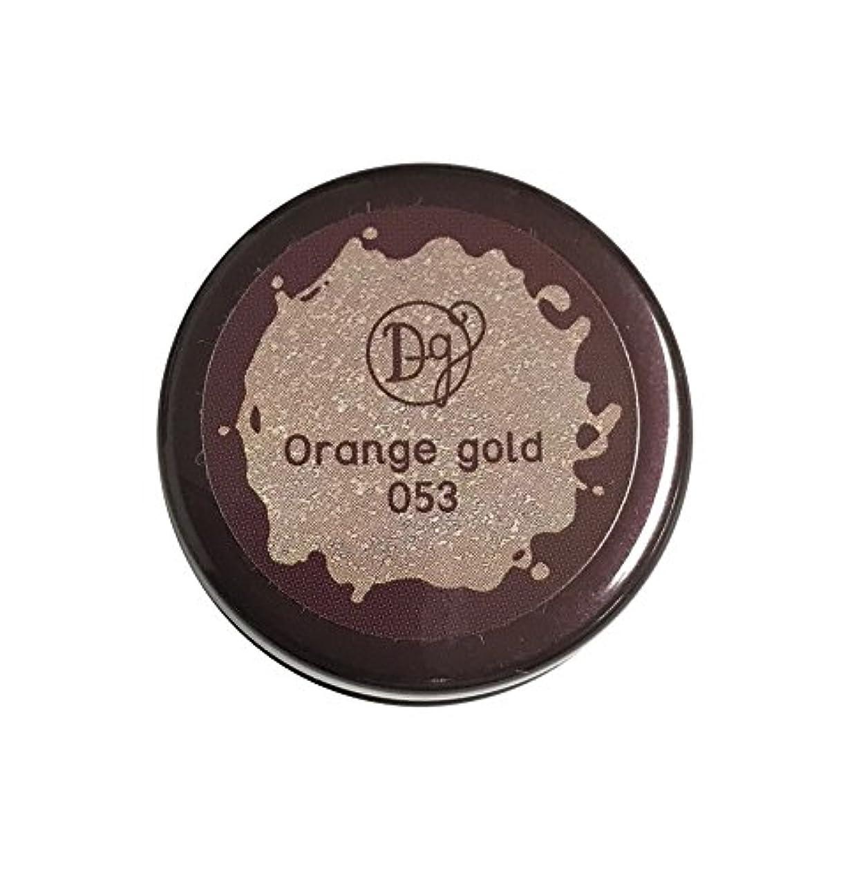 作曲家後者南方のDECORA GIRL カラージェル #053 オレンジゴールド