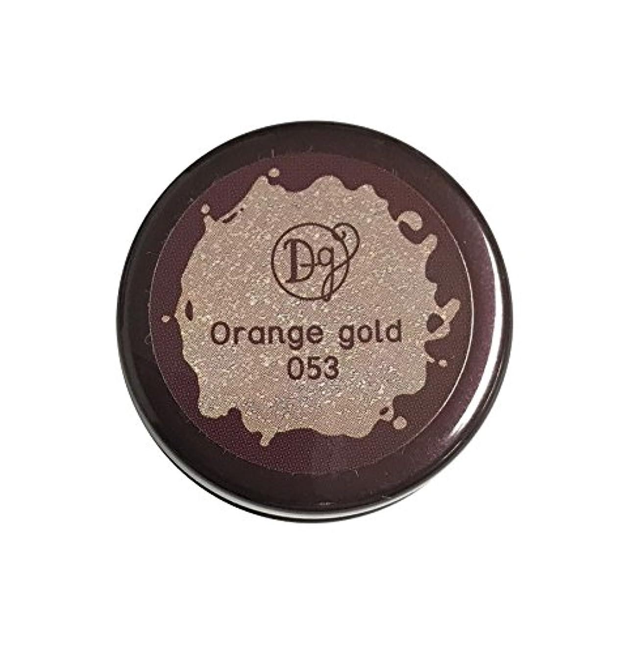 聴覚小人累積DECORA GIRL カラージェル #053 オレンジゴールド