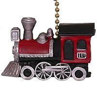 Choo Choo Train Locomotive Nursery Fan Light Pull by Clementine