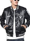 (マジェスティック) MAJESTIC スタジャン メンズ スタジアムジャケット サテン レイダース NM23-OLR-0023 ブラック L 大きいサイズ b系