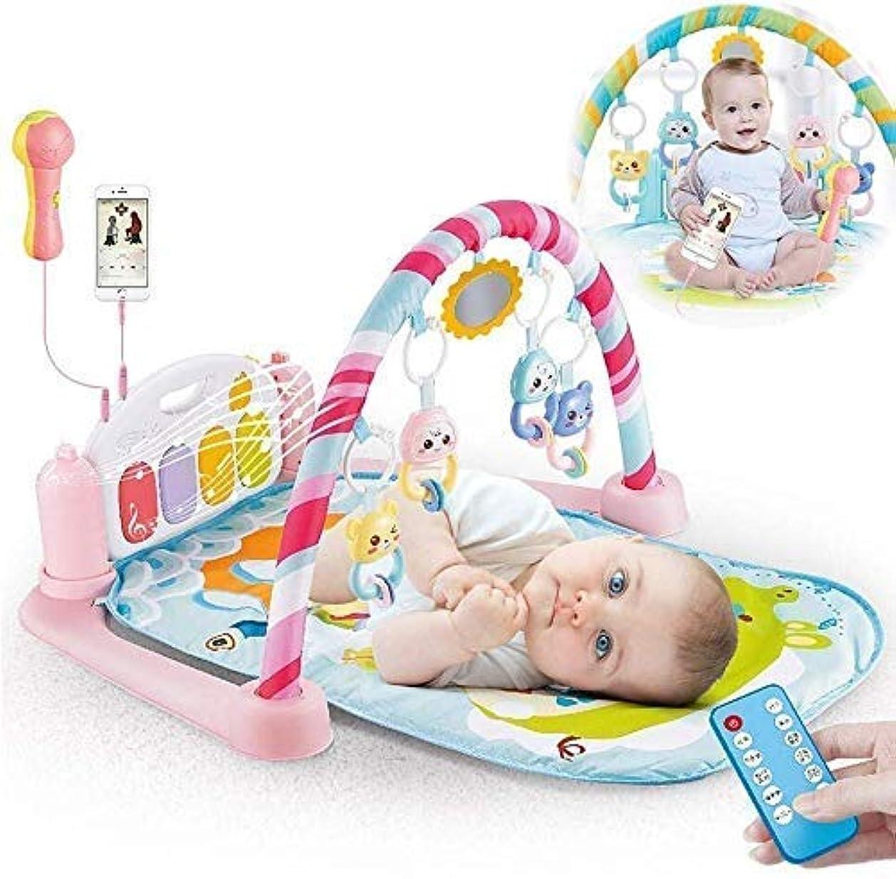 甥香水マーティンルーサーキングジュニア幼児用プレイマットフェンスSucastleBaby Play Mats Gym Piano Activity Mat with Music Sound Multifunction Playmats for 0-6 Months Newborn Infants Babies Toys