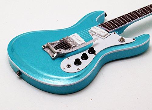 [Musical Story] ミニチュア ギター モズライト メタリック ブルー ベンチャーズ スタイル