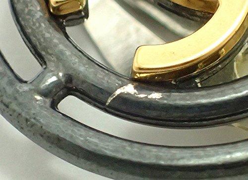 [シャネル] CHANEL ラウンド ココマーク イヤリング ダークグレー ゴールドメッキ 96P 1996年製
