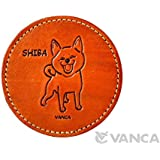 柴犬 コースター 本革製 VANCA CRAFT 革物語(日本製 ハンドメイド)