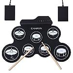 CAHAYA 電子ドラム ポータブル 五種類のドラム音色組 メトロノーム機能 外部音源入力可能 ペダル スティック付き 練習用ドラム 楽器 おもちゃ 初心者 入門用