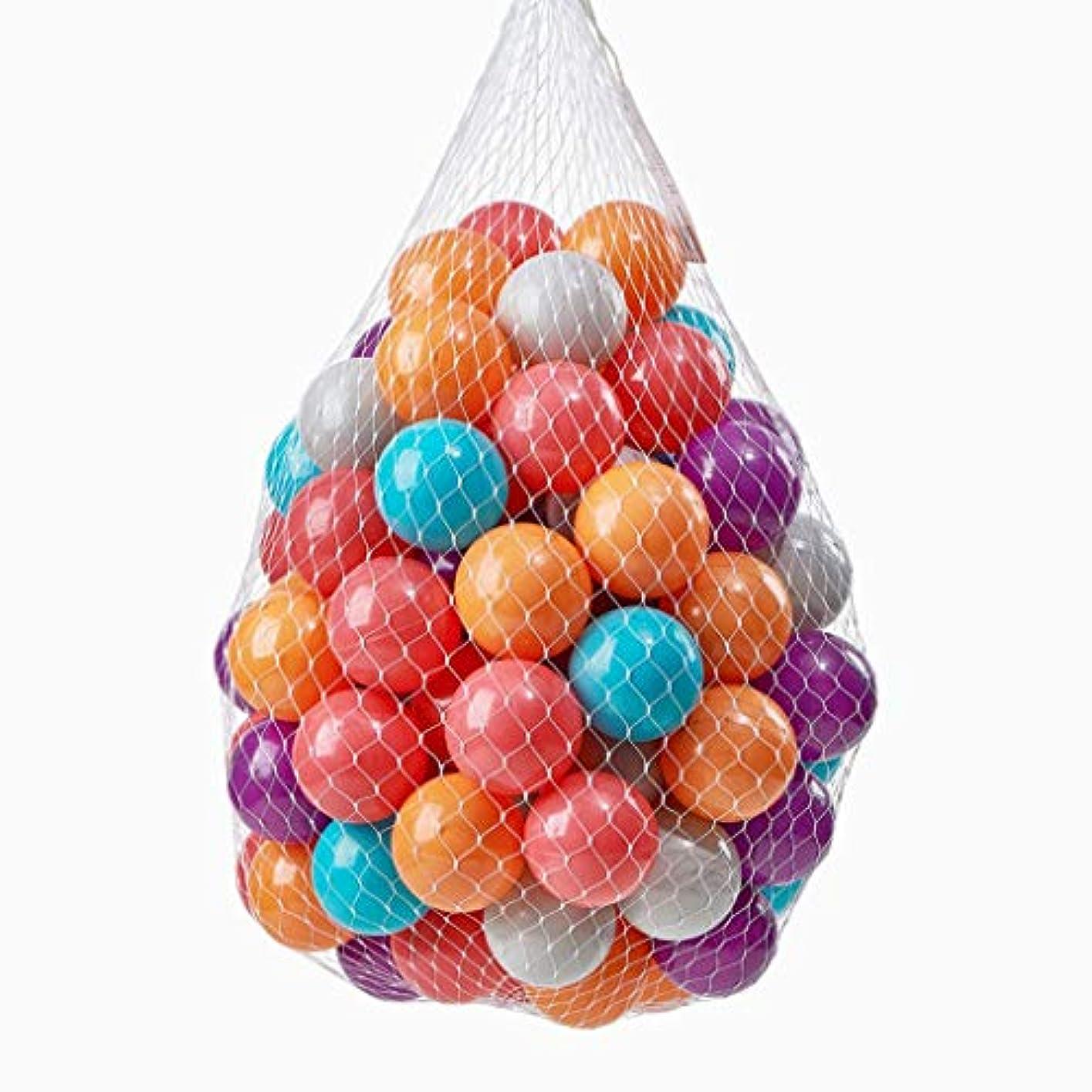 悲鳴主権者温室オーシャンボールカラフルなゲームボール環境保護肥厚非毒性ピットボールの100pcsベビークラッシュ耐力ボール子供のおもちゃボールお祝いデコレーションボール (Color : Multi-colored)