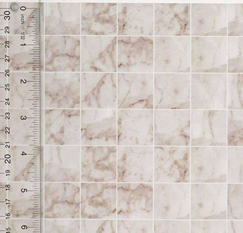 明確に口径積分Miniature Square White Marble Tile Flooring
