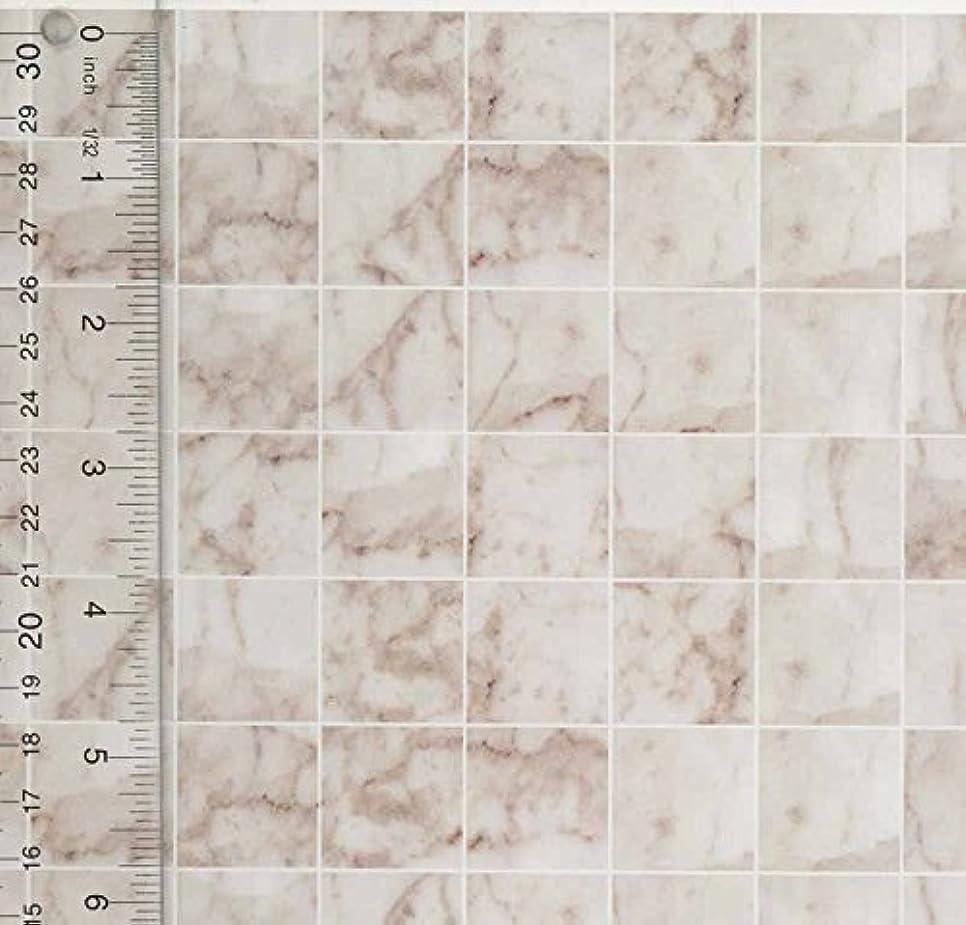 黒板保守的めったにMiniature Square White Marble Tile Flooring