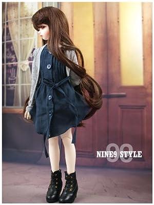 *NINE STYLE*  Pintuck shirt one-peice(Nevy)/40cm/doll/洋服/(MSD)