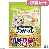 デオトイレ 飛び散らない消臭・抗菌サンド 2L 3袋入り 猫砂 ゼオライト シリカゲル