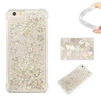 iPhone7 ケース BRAVODAY [流れる愛] 輝く きれい 可愛い iPhone7 シリコン ケース スターライト 愛 [エアバンパー] [衝撃吸収] iPhone7 シリコン ケース [全面保護] 落下時の衝撃から本体を守る 手触りがよい 衝撃吸収構造を兼ね備えたケース (銀)
