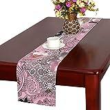 GGSXD テーブルランナー きれい 桃の花 クロス 食卓カバー 麻綿製 欧米 おしゃれ 16 Inch X 72 Inch (40cm X 182cm) キッチン ダイニング ホーム デコレーション モダン リビング 洗える