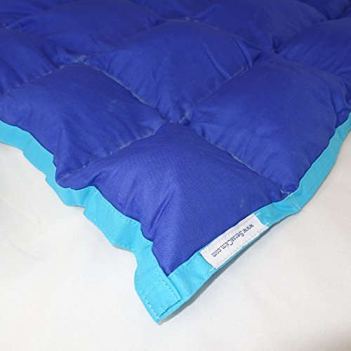 SensaCalm Therapeutic Adult-Length Weighted Blanket - Dazzling Blue with Scuba Blue-12 lb -for 90 lb User by SensaCalm [並行輸入品]
