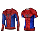 スパイダーマン風 Tシャツ コスチューム (スパイダーマン風長袖L)