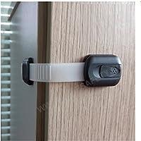 長さ調整可 6本セット キャビネットドアロック ベビーガード チャイルドロックストッパー、引き出しロック、冷蔵庫のロックを適用 ATOPLEおしゃれなデザイン