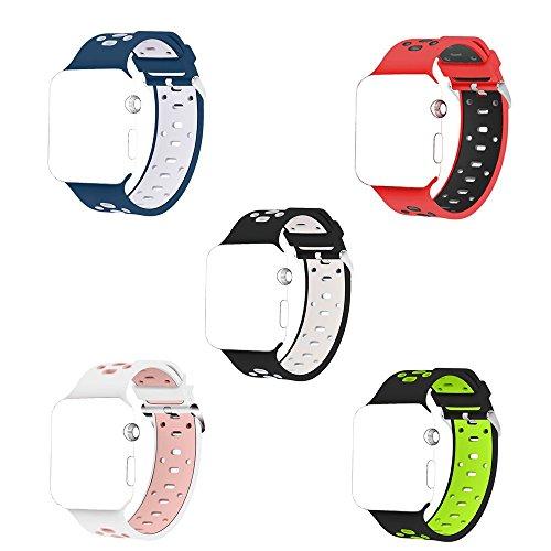 Apple Watch band Otmake Apple Watch バンド 交換用 通気性よい アップル ウォッチ バンド シリカゲルバンド 38mm 対応 アップルウォッチ Nike+ / New Apple iWatch Series 2 / Apple Watch Series 1(5pcs)