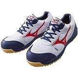 ミズノ 安全靴 MIZUNO ワークシューズオールマイティ C1GA1600 01 ホワイト×レッド×ネイビー 25cm