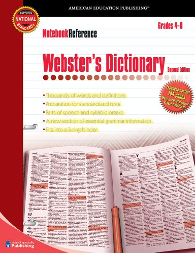Download Webster's Dictionary: Grades 4 - 8 (Notebook Reference) 0769643418