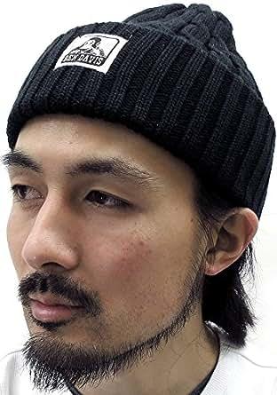 (ベンデイビス) BEN DAVIS ニット帽 メンズ 帽子 ケーブル ワッチ 6color Free ブラック