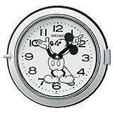 (セイコークロック) SEIKO CLOCK 大人 ディズニー クォーツ壁掛け時計 FS504W ミッキーマウス 防塵型 レトロ調 白 モノトーン アナログ