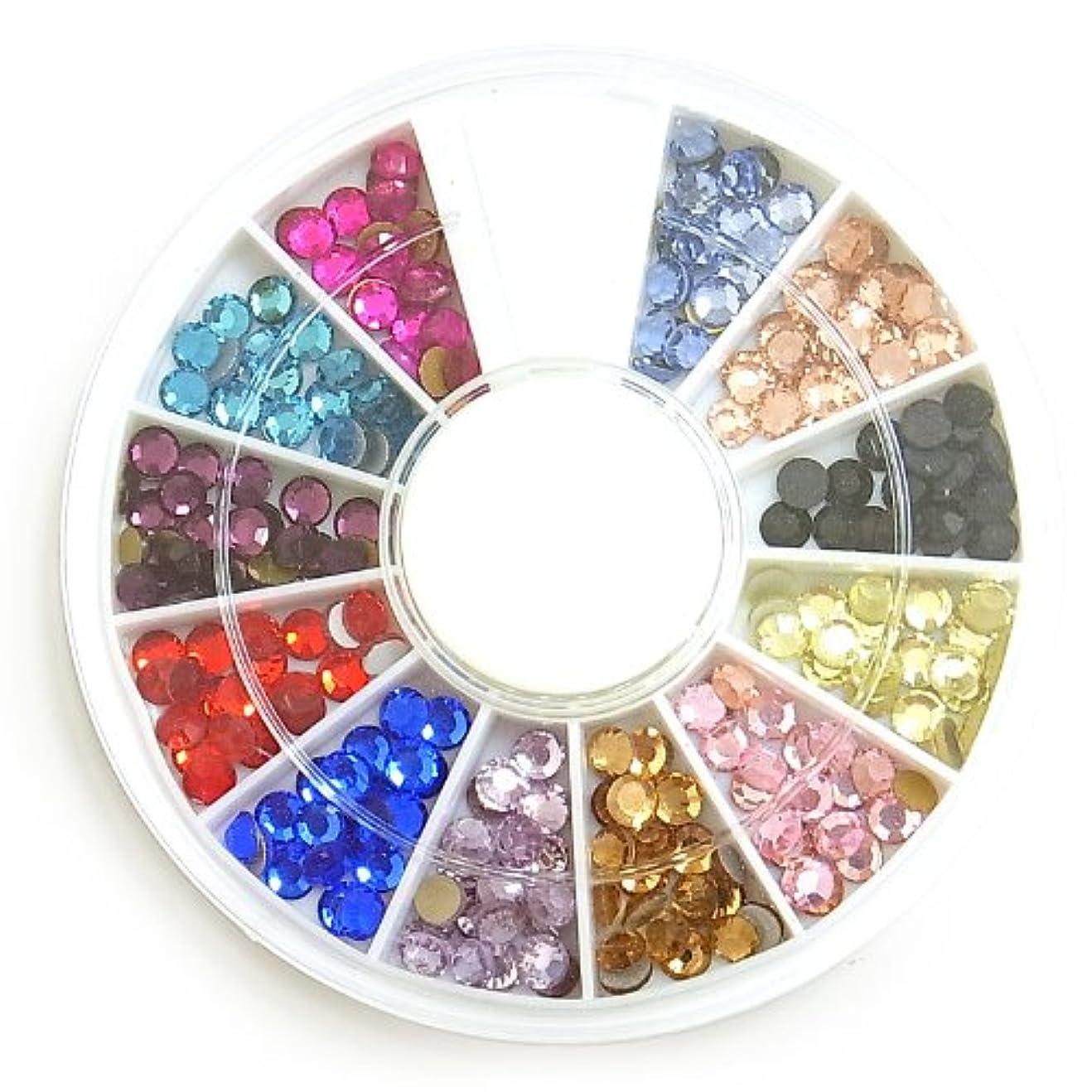 さておきどんなときもスポンジガラス製カラーラインストーン?丸3mm約240粒