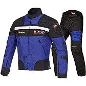 DUHAN(ドゥーハン) バイクジャケット&パンツセット ブルー XL オールシーズン 春夏秋冬用 905413