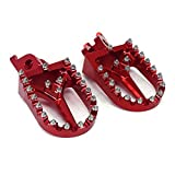 JFG RACING Red Billet MX Wide Foot Pegs Pedals Rests For Honda CR125 CR250 02-07 CRF250R CRF250X 04-17 CRF450R 02-17 CRF450RX 17 CRF450X 05-17 CRF250L CRF250M 12-16 [Floral] [並行輸入品]