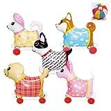 【ビニール玩具】お散歩犬・小 5種アソート(5個入)   / お楽しみグッズ(紙風船)付きセット [おもちゃ&ホビー]
