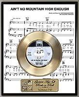 マービン・ゲイ アイントン・ノー・マウンテン ハイイナフ 限定版 45RPMゴールドレコード ガーディアンズ・オブ・ギャラクシー サウンドトラック シート ミュージックポスター アートディスプレイ オリジナルレプリカスリーブアート&レコードラベル付き