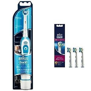 ブラウン オーラルB 簡易電動歯ブラシ プラックコントロール DB4510NE+替えブラシ 歯間ワイパー付ブラシ 3個入り EB25-3-EL