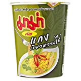 タイのカップラーメンです。INSTANT MAMA NOODLES THAI CHICKEN GREEN CURRY FLAVOR 60g.x3 Cups 100 Kcal Thailand.