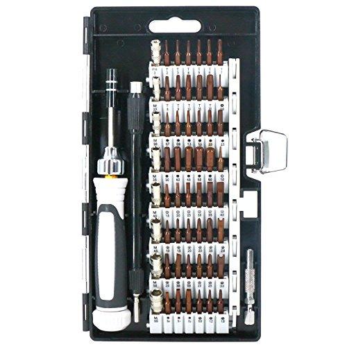 精密ドライバーセット 修理キット S2合金鋼 60in1 56種ビット iPhone用 PC メガネ カメラ 時計 PS4 ipadなど修復 DIY作業工具